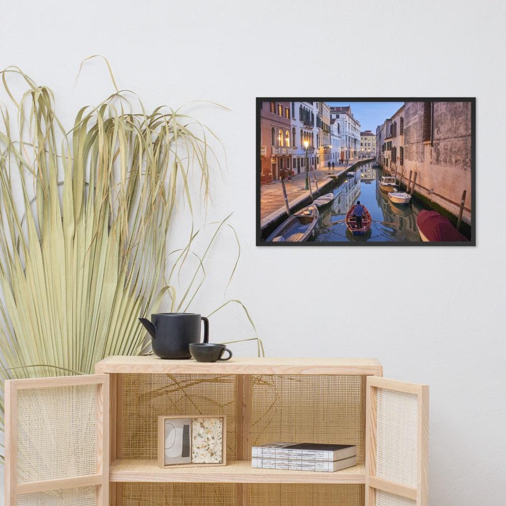 Venetian Stroll – Framed matte paper poster