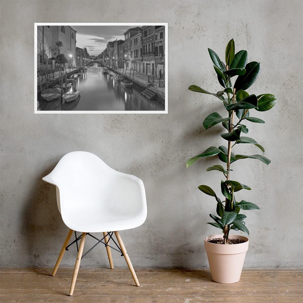 Ormesini in B&W – Matte Paper Framed Poster With Mat Board