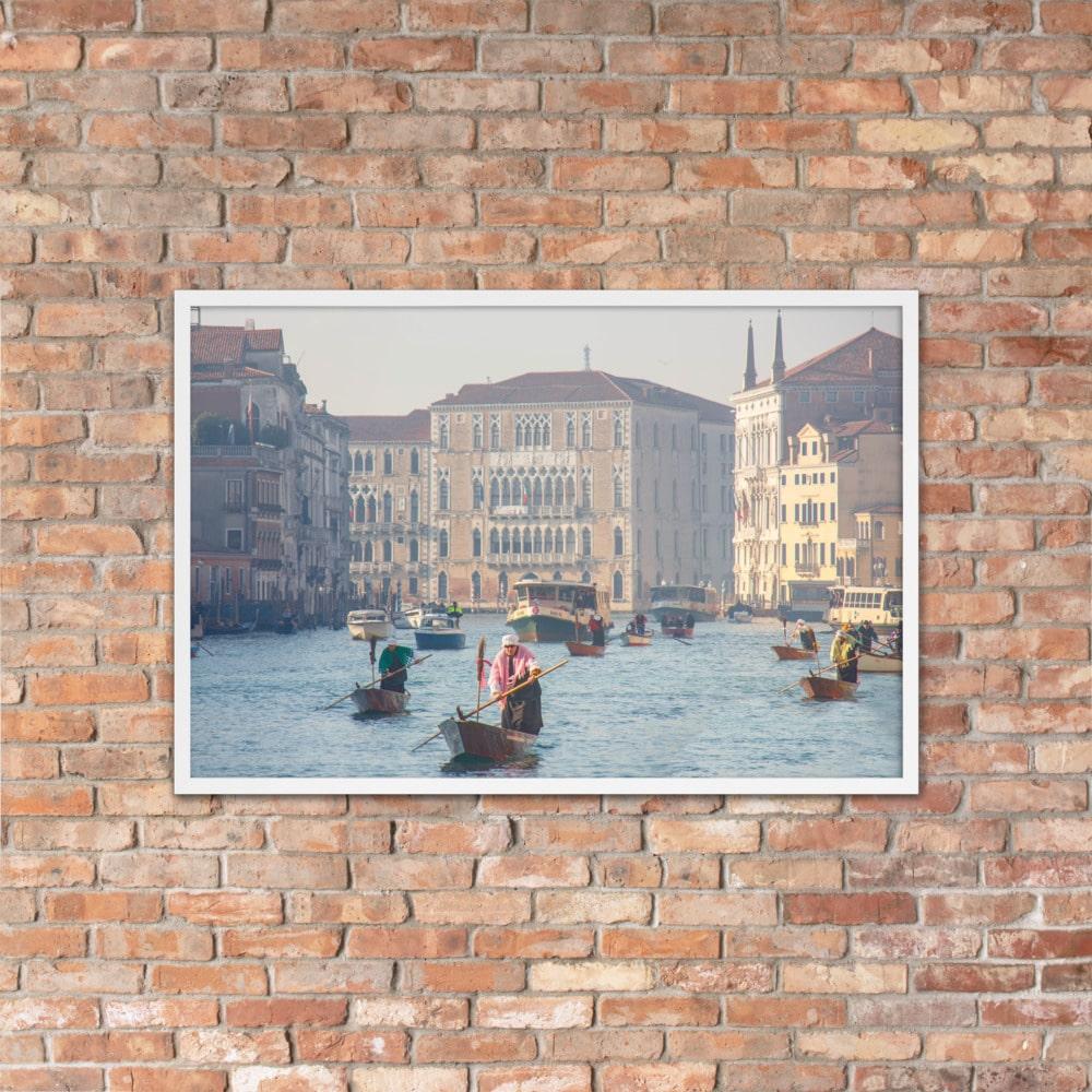Befane Regatta – Framed matte paper poster